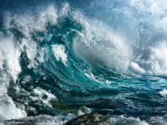 буря, ocean, брызги