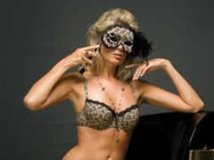 маска, девушка, blonde