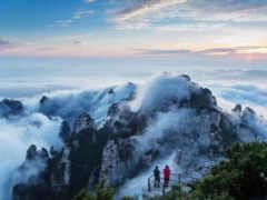 гора, облако, рельеф