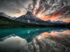перистые, oblaka, озера