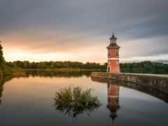 moritzburg, озеро, lighthouse