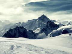 гора, winter, природа