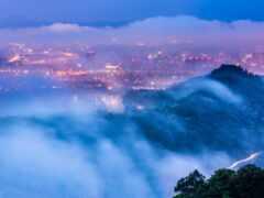 город, taiwan, вечер