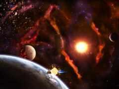 cosmic, корабль, planet