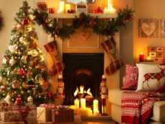новогодние, зимние, елка