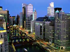 мегаполис, chicago, красивый