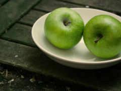 табличка, фрукты, яблока