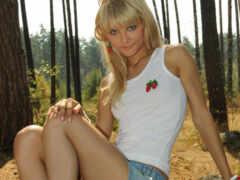 лес, девушка, blonde
