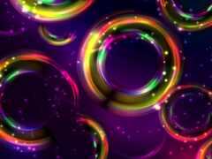 красивый, circle, абстракция
