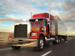 truck, semi, авария