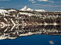 озеро, отражение, crater