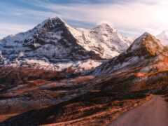 гора, дорога, во