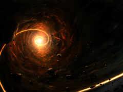 hole, черная, spiral