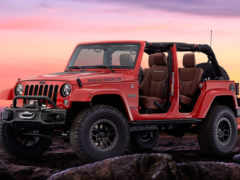jeep, wrangler, red