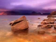буря, облако, purple