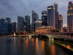 город, singapore, небоскрёба
