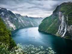 fjord, geiranger, norwegian