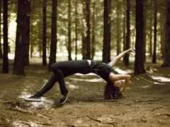 art, levitation, шатенка