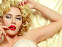 red, макияж, скарлетт