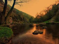 landscape, water, озеро