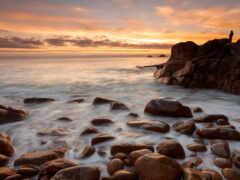 берег, rock, море