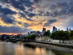 london, закат, современный