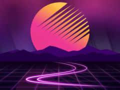 солнце горы, пурпур, фиалка