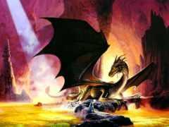 дракон, пещере, пещера