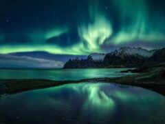 сияние, норвегия, northern