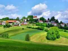 деревня, landscape, красивый