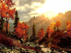 картинка, осень, горы