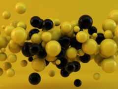 yellow, шарики, black