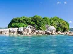 остров, ocean, природа