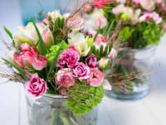 ваза, букет, цветы