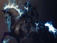 всадник, лошадь, арта