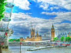 река, лондон, взгляд