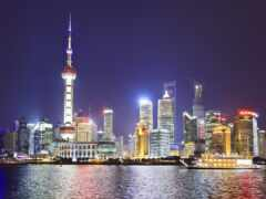 china, shanghai, ночь