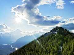 гора, природа, облако