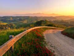 italian, природа, закат