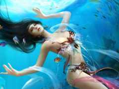 fantasy, goddess, mermaid