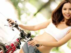 bike, трусы, brunette