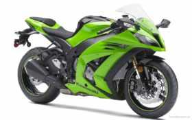 мотоциклы, kawasaki, зелёный