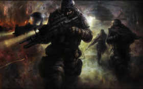 солдаты, высадка