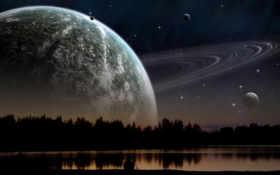 space, planets Фон № 12001 разрешение 1920x1200