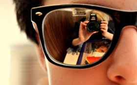 очки, отражение