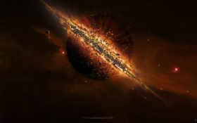 взрыв, космос Фон № 17451 разрешение 1920x1200
