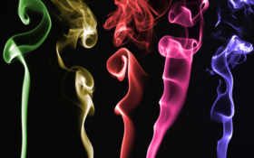 colors, smoke, artistic