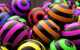 шары, отражение Фон № 20402 разрешение 2560x1600