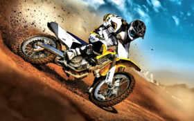 мотокросс, мотоцикл, спорт