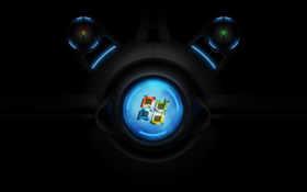 Windows лого круглый экран